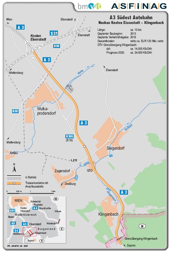 A3 Verlängerung (Trassenfindung)